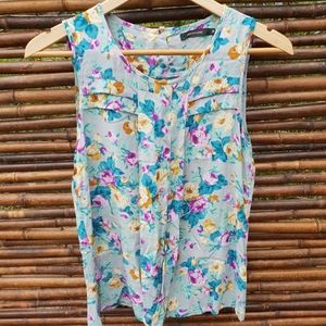 Portmans Sleeveless Floral Top Size 8